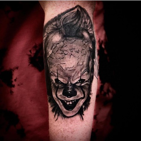 Pennywise Tattoo By Adam from  Lost Souls Tattoo - 01-27-2018