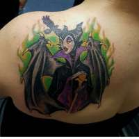 Maleficent  Tattoo by Mike from  Northside Tattoos Wilmington, DE - 20171027