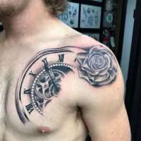 Clock  Tattoo by Ron from  Tropical Tattoo Ormond Beach, FL - 20180117