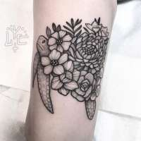 Floral  Tattoo by Lawrence from  Lake Monster Tattoo & Body Piercing South Lake Tahoe, CA - 20180118
