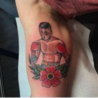 Boxer  Tattoo by @manny_themachete from  27tattoostudio Phoenix, AZ - 20171029