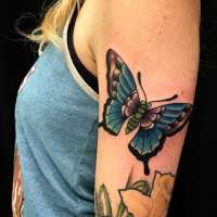 Butterfly  Tattoo by Tony from  Cresson Street Tattoo 4371 Cresson St. Philadelphia Philadelphia, PA - 20180116