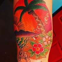Palmtree  Tattoo by Soup from  Birch Avenue Tattoo Flagstaff, AZ - 20170929