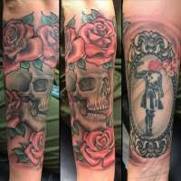 Skull  Tattoo by Walt from  Lucky Bird Tattoo And Piercing Annapolis, MD - 20170824