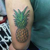 Pineapple  Tattoo by @jauntyjamestattoo from  Illusion Ink (official) Southaven, MS - 20180608