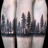 Trees  Tattoo by Agnes from  Agnes Hamilton Tattoos & Fine Art Portland, OR - 20180322